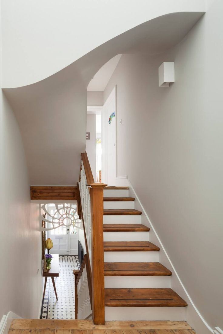 Custom Remodel in London Works on Multiple Levels - Great wide stairs! | Via freshome.com