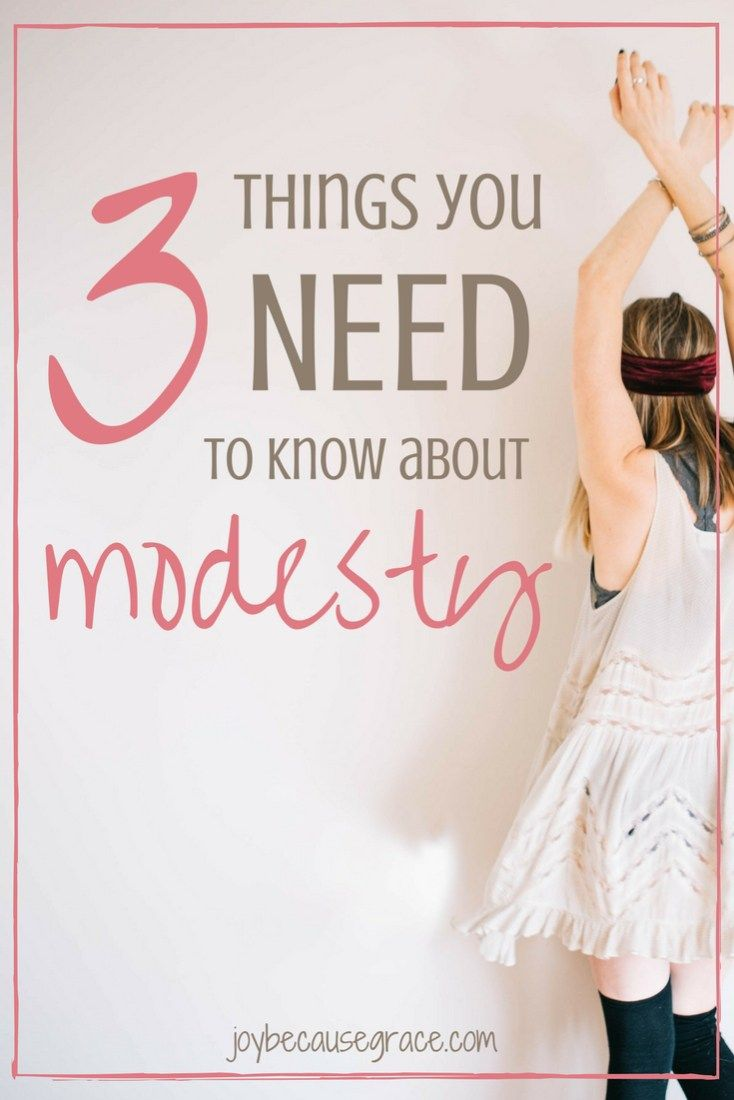 Modesty. The word that makes many Christian girls cringe. True modesty, however, isn't cringe-worthy. Here are 3 must know things about modesty.