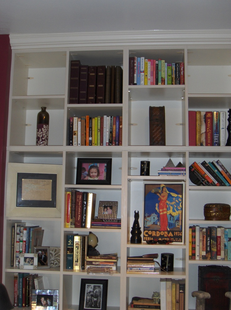 When your wall IS your bookshelf!  www.tailoredliving.com/glenallen