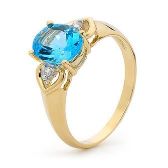 Buy our Australian made Blue Topaz and Diamond Ring - BEE-24849-BT online. Explore our range of custom made chain jewellery, rings, pendants, earrings and charms.