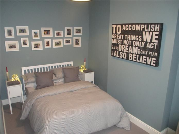 An Inspirational Image From Farrow And Ball Blue Bedroom CurtainsBedroom CeilingBlue BedroomsBedroom DecorMaster BedroomBedroom IdeasOval Room