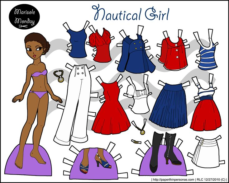 Marisole Monday Nautical Girl Printable Paper Doll