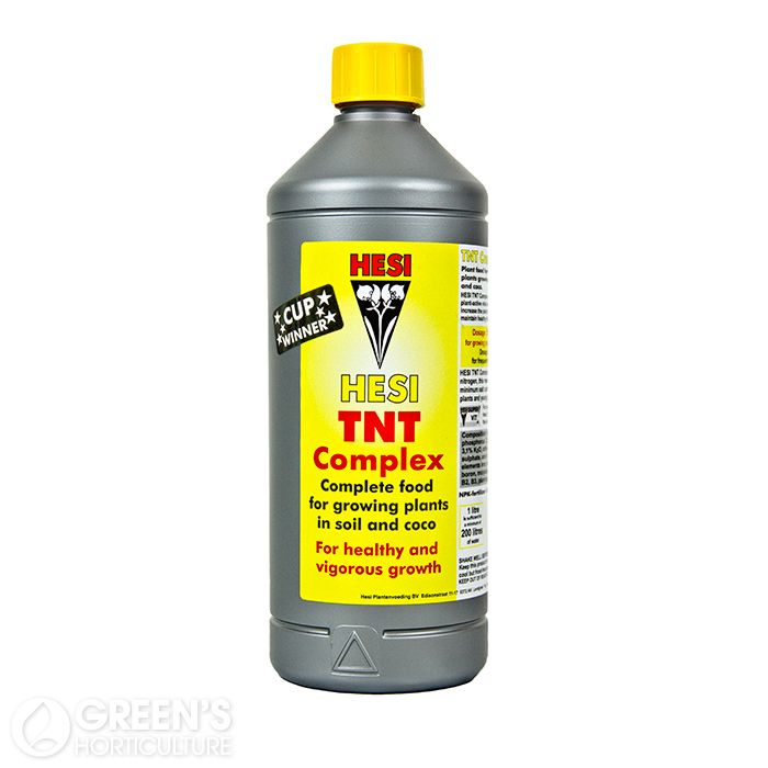 Hesi TNT Complex:  Complete food for growing plants in soil or coco.