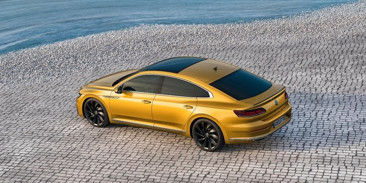The hips on the Volkswagen Arteon could have been borrowed from the Tesla Model S
