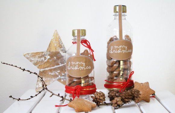 diy keksverpackung aus pet flaschen upcycling selbermachen pinterest bottle pets and. Black Bedroom Furniture Sets. Home Design Ideas