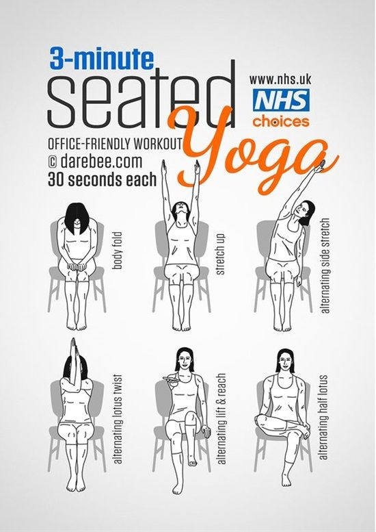 12 Exercises You Can Do Even At Work  DIYs  Chair yoga