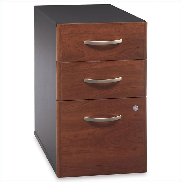bush series c 3 drawer vertical wood file cabinet in hansen cherry wc24453 lowest