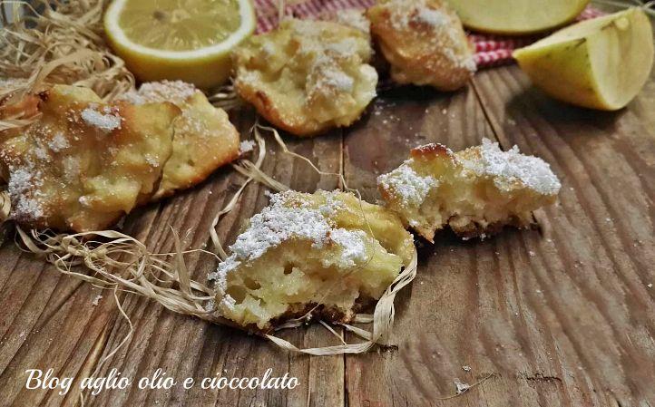 biscotti morbidi albumi mele e limone-ricetta dolce semplice