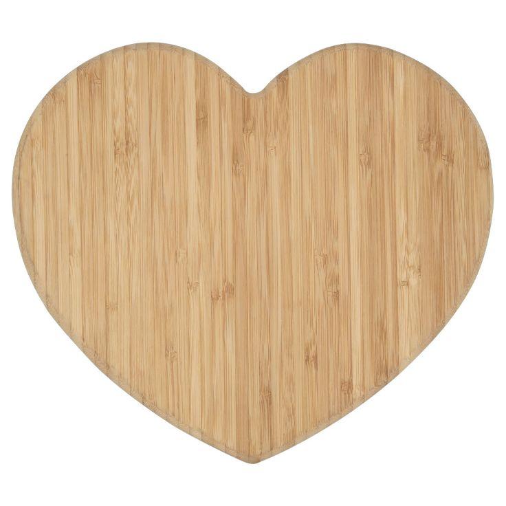 Wilko Wooden Chopping Board Heart Shaped
