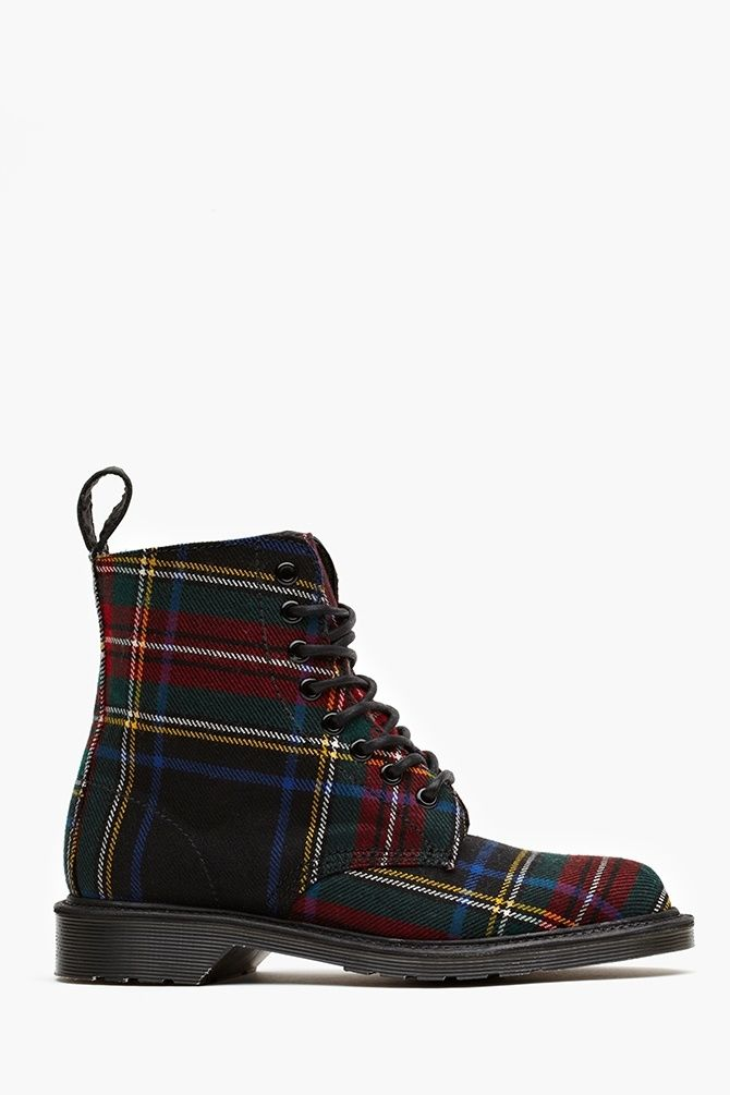 Doc Marten's plaid boot