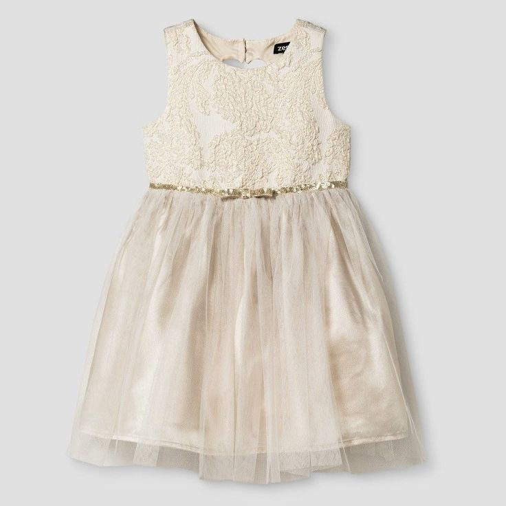 Toddler Girls' Occasion Dresses Champagne 5T - Zenzi, Toddler Girl's, Yellow