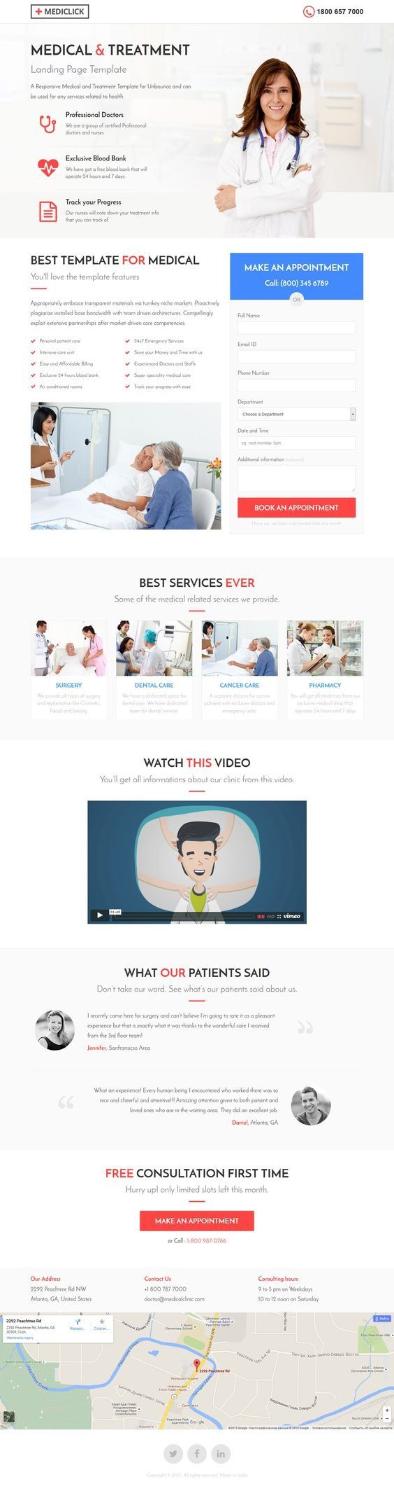 Medical, Spa, Yoga & Fitness Landing Page Template. Download: http://themeforest.net/item/medical-spa-yoga-fitness-landing-page-template/13386341?ref=skarin