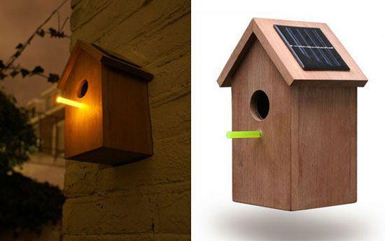 solar birdhouse, great idea!