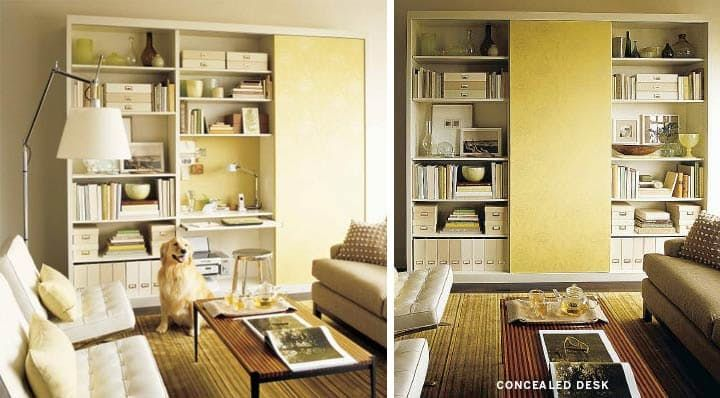 7 Places to Fit an Office in the Living Room