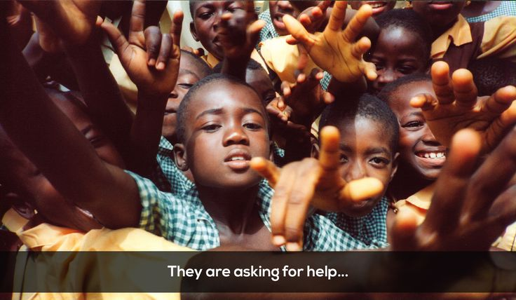 #african #kids #asking #for #help