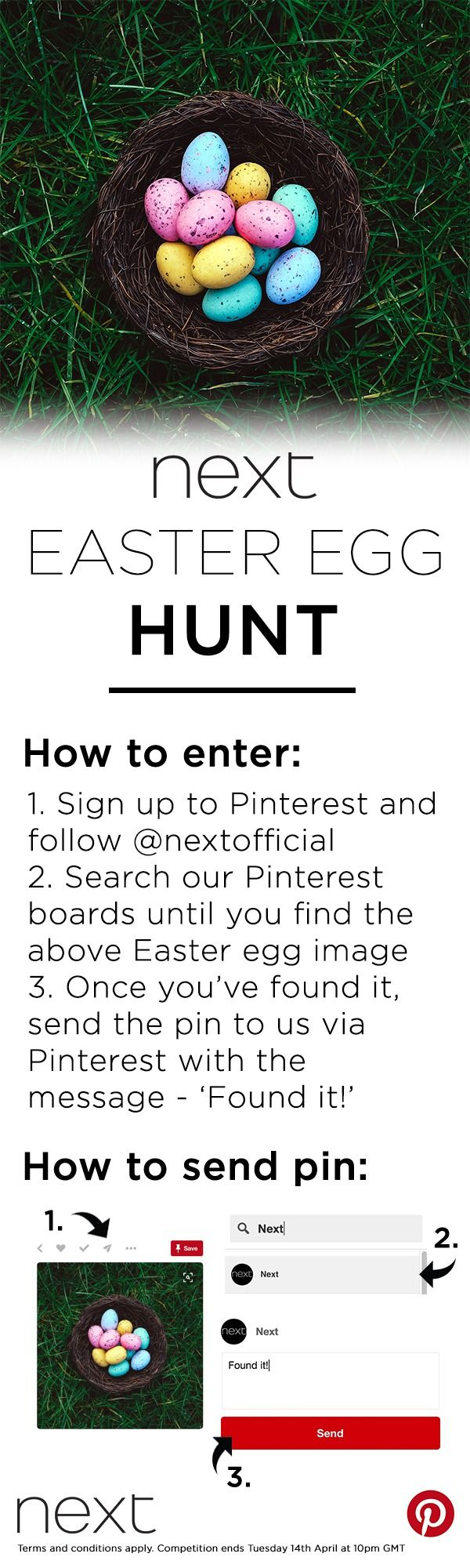 The hunt is on to WIN £250 to spend on Next.co.uk! Whether you'd love a wardrobe update or interior refresh, hunt our Pinterest boards for the missing Easter egg image above and send it to us via direct message! Comp ends 14thth April. Tap the image for T&Cs.