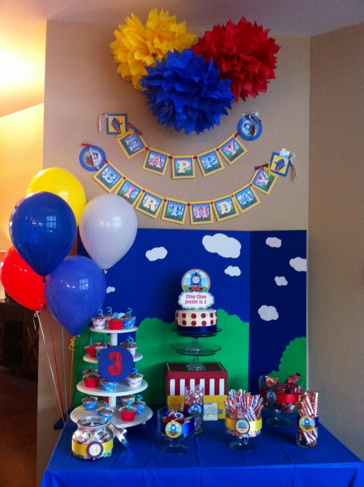 Thomas the tank engine party! Izzy would LOVE this! Maybe for his next birthday!