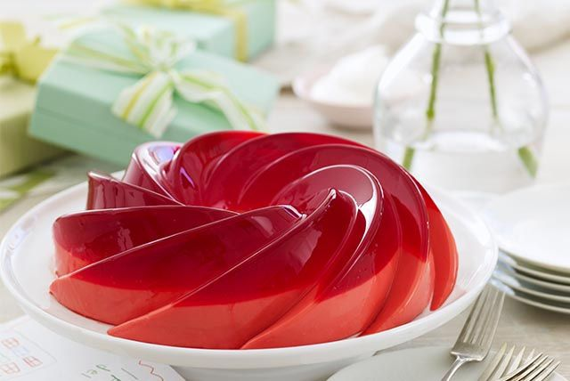 Raspberry-Rose Petal Gelatin   Jello recipes   Pinterest ...