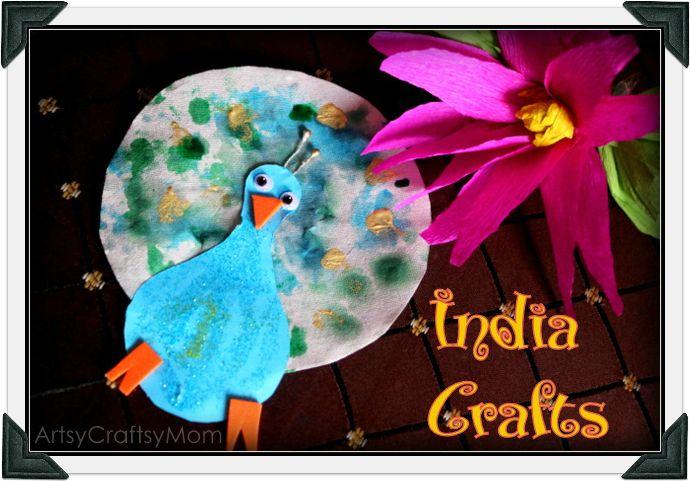 Artsy Craftsy Mom: India Crafts - peacock