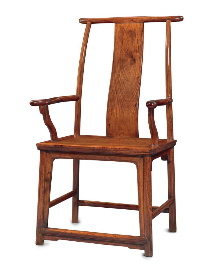 A rare 'four-corners-exposed' official's hat arm chair, sichutouguanmaoyi, China, Ming dynasty, 17th century 1