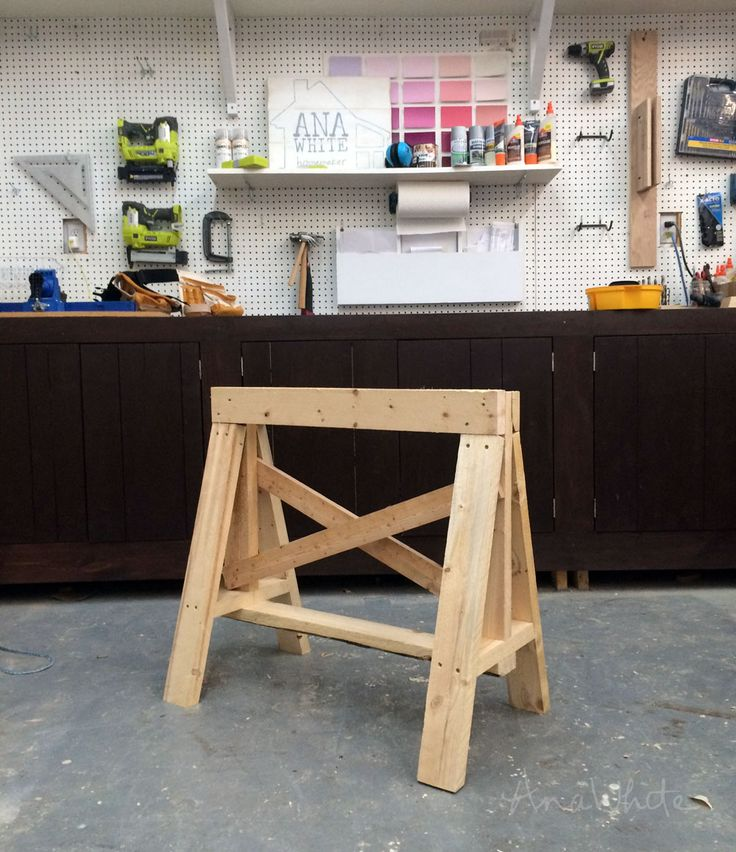 Ana White | Build a Easy Heavy Duty 2x4 Sawhorses | Free and Easy DIY Project and Furniture Plans