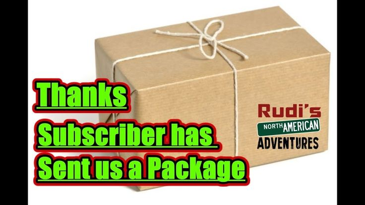 Subscriber sent us a Package Rudi's NORTH AMERICAN ADVENTURES 01/01/18 Vlog#1300 - YouTube