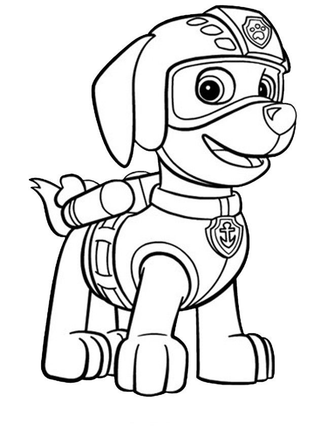 Chase Paw Patrol Free Coloring Pages