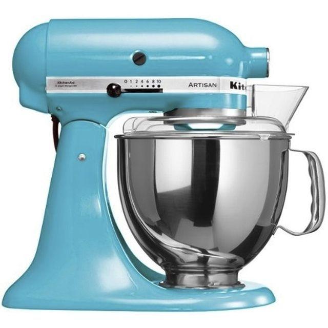 Robot pâtissier KITCHENAID Artisan Bleu lagon, sur mistergooddeal.com