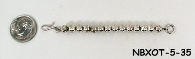 Sterling silver necklace bead extender