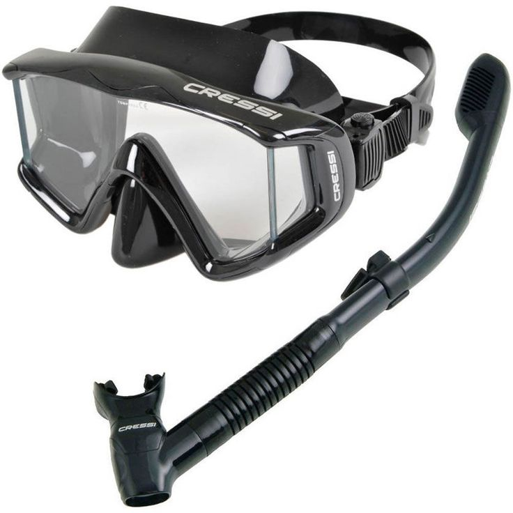 Snorkels and Sets 71162: Cressi Panoramic 3 Dive Mask And Supernova Dry Snorkel Combo -> BUY IT NOW ONLY: $64.95 on eBay!