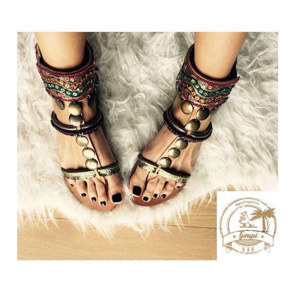 Sandales à la main sandales en cuir grec Casablanca