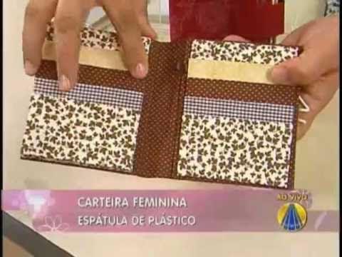 Carteira feminina | Artesanato Sabor de vida