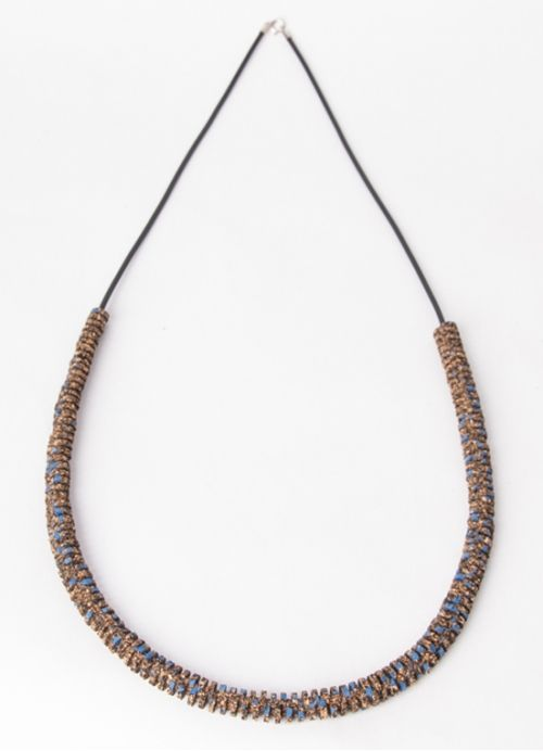 Wire Cork Necklace . Portuguese Independent Brand of Contemporary Jewellery