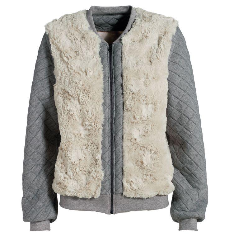 Quiltet jersey grå melange m foer - Stof & Stil