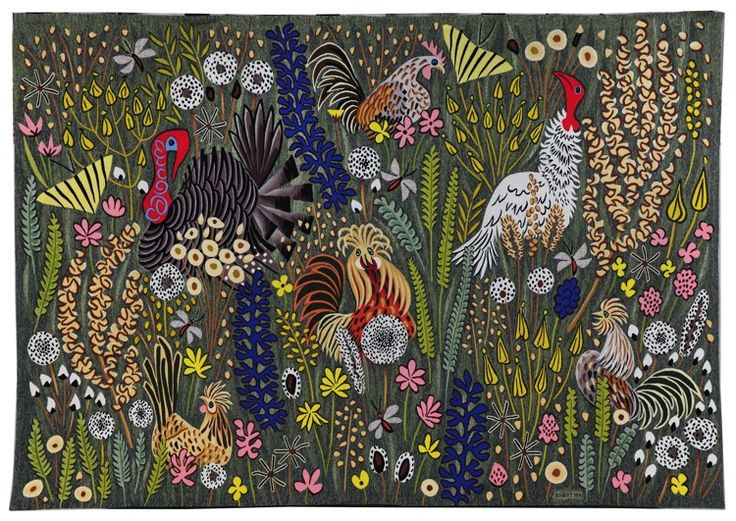 Broderies autour de Dom Robert: une idée du paradis terrestre... - ArtisAnne Textile