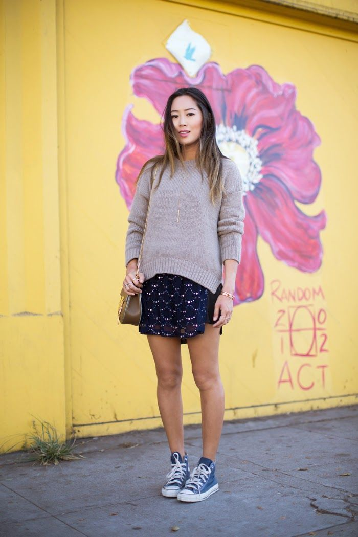 iMyne Fashion: Zappos Appreciation | Song of Style. Blue converse. Outfit idea. Fashion with converse. Spring outfit ideas. Fashion inspiration.