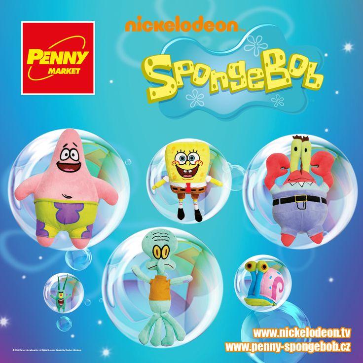 Na jakého plyšáka se v Penny těšíte nejvíce? :-) Můžete si vybírat mezi vtipálkem SpongeBobem a jeho kamarády - Planktonem, Patrikem, panem Krabsem, Sépiákem a Garym.