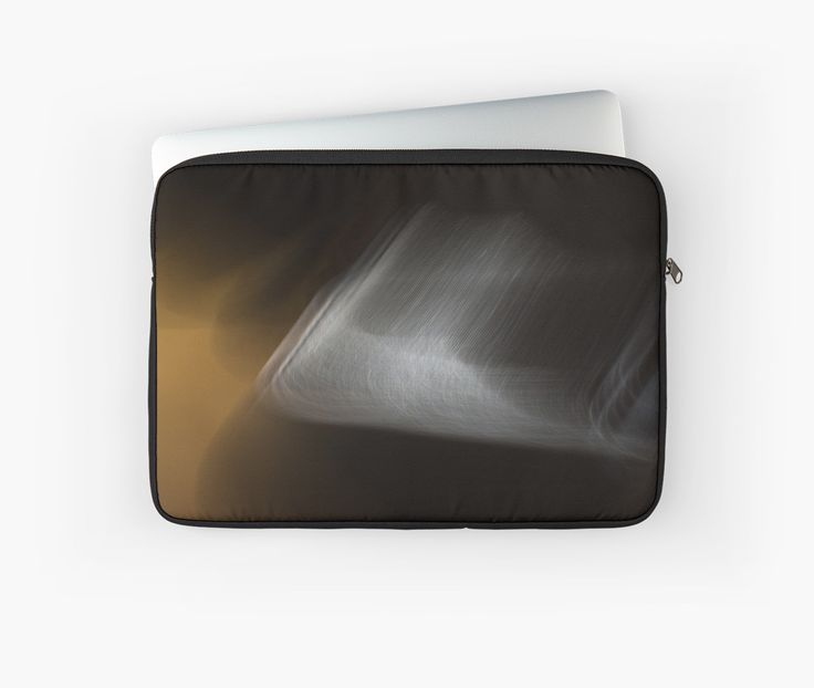 Beige and White Abstract Skate Laptop Sleeves by Galerie 503