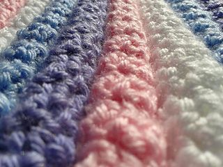 """Ravelry No Holes Baby Blanket. 