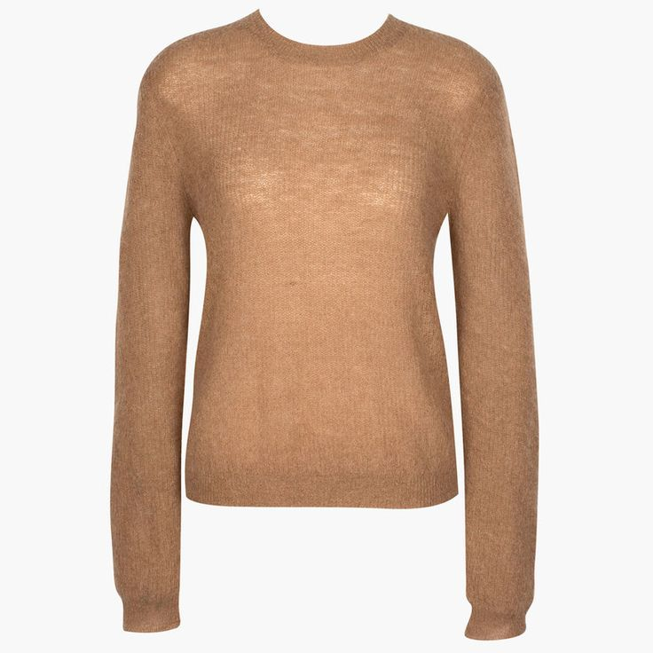 Classic crew style in a soft mohair blend.