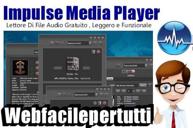 (Impulse Media Player) Lettore Di File Audio Gratuito , Leggero e Funzionale Lettore Di File Audio Gratuito , Leggero e Funzionale  Impulse Media Player è uno di quei programmi adatti a tutti i pc di fascia bassa , ottimo per la sua leggerezza , che non incide sulle risorse  #impulsemediaplayer #audio #gratis