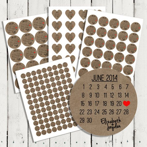 Personalized Wedding Brown Kraft Stickers, Seals for Invitations & Showers Favors, Envelope Seals, Address Labels and more (L002) op Etsy, 3,53€
