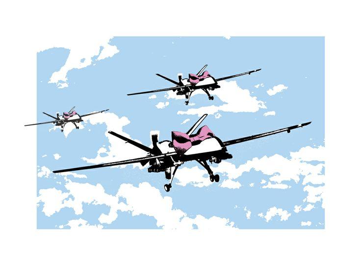 """Happy Drones"" by Rene Gagnon."