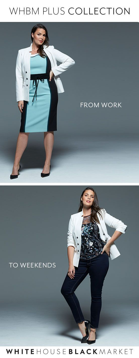 Confidence paired with style, our WHBM Plus Collection has the styles you want in sizes 16W-24W. From our polished work wear, our casual, yet chic essentials to beautiful occasion dresses, our WHBM Plus has you covered for every occasion. Sold Exclusively Online, try it on, on us. Enjoy Free Shipping & Returns on all full-price Plus orders. | White House Black Market