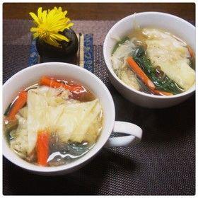 ワンタン春雨スープ by chapkanon 【クックパッド】 簡単おいしいみんなのレシピが277万品
