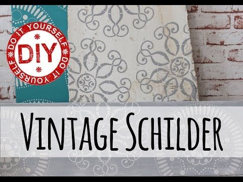 how to i vintage schilder mit 3d effekt i deko inspirationen selbstgemacht youtube spr che. Black Bedroom Furniture Sets. Home Design Ideas