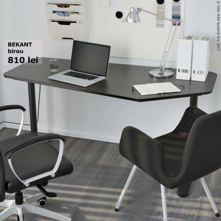 Poți ajusta picioarele biroului BEKANT la înălțimi între 65 și 85 cm, așa că poate fi alegerea potrivită pentru biroul tău.
