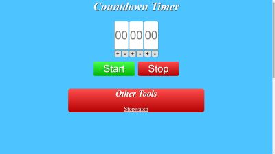 Easy to use countdown timer online set time in seconds, mins, and hours even with alarms