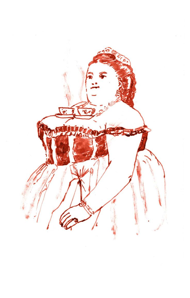 Illustrazione di Giulia Maria Belli dal libro ''Fiabe di malati alienati e bizzarrie''