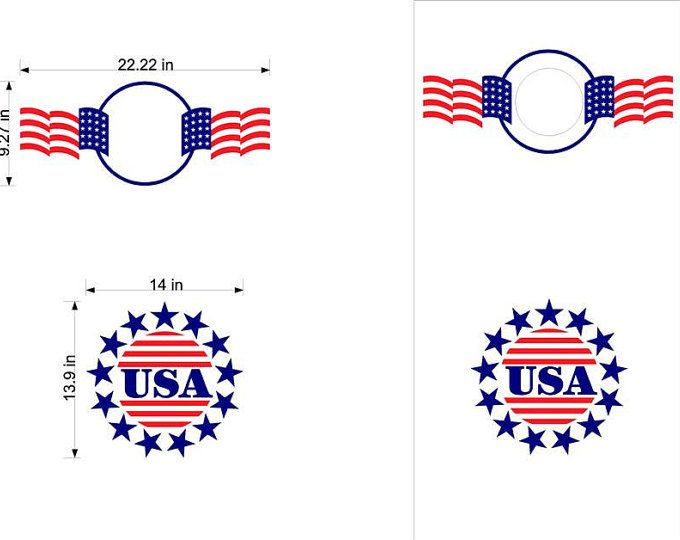 USA Patriotic Flag Cornhole Boards-Stickers- Decals-Bean Bag Toss-Wraps-Personalized Cornhole- Custom Cornhole Decals-Vinyl Decals